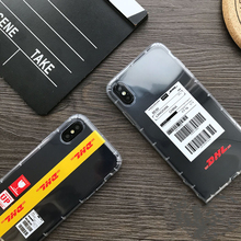 Transparent  soft DHL case for iphone X XS MAX XR 8 7 6 6S plus silicon phone cover Clear 3D relief fashion Couple coque fundas