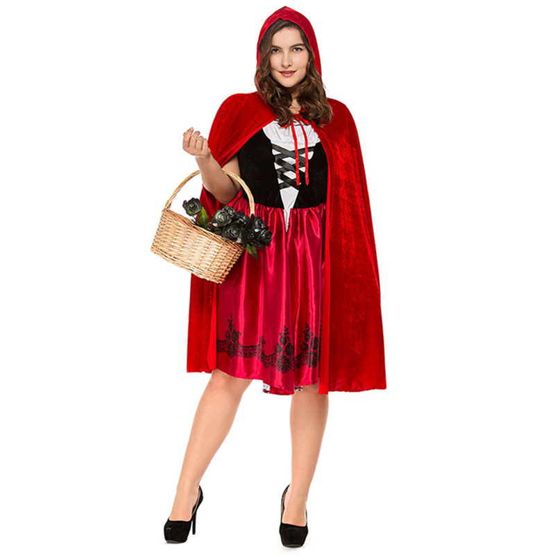 Halloween Costumes For Women Sexy Cosplay Little Red Riding Hood Fantasy Game Uniforms Fancy Dress Outfit S-3XL Free Shipping