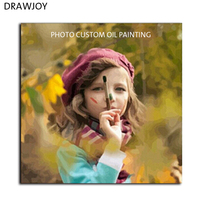 Photo Custom Make Your Own Digital Canvas Oil Painting Framless Picture Painting By Numbers Wall Art