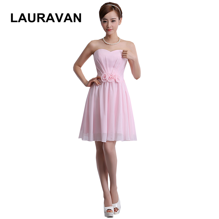 2018 sexy robe de soiree sexy elegant new women female light pink   bridesmaid     dress   short   dresses   2018 low price free shipping