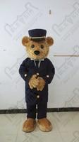 durable quality brown fur teddy mascot costume polite teddy bear costumes