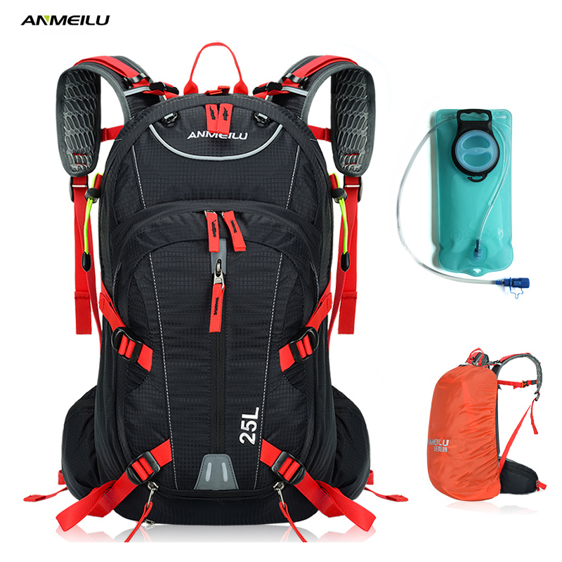 ANMEILU 2L Water Bag Bladder 18L Waterproof Cycling Camping Backpack Sports Climbing Bag Hydration Backpack Camelback Rain Cover anmeilu 25l climbing bag sports rucksack waterproof cycling camping backpack rain cover sport travel bags 2l water bag camelback