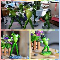 Free Shipping Dancing Michael Frog Family Figures Resin Toy Big Small Sizes Cake Home Office Desk