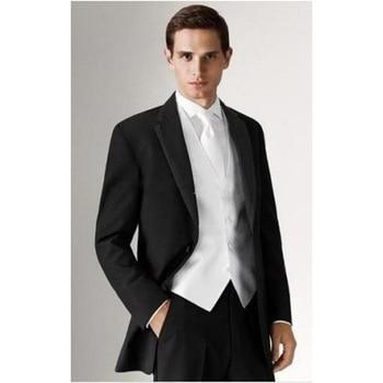 Smoking Custom Made Slim Fit 3 Pieces Men Wedding Groom Tuxedos Groomsmen Best Man Suit Party Tuxedo (jacket+pants+vest) Hy829