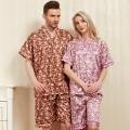 2017 Summer Pajama Sets 100% Cotton Cofortable Salon Bathrobe Sets For Men And Women