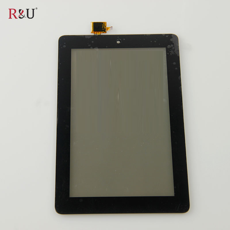 R&U 7 inch Touch Screen Panel Digitizer Sensor outer Glass outside screen Replacement For Amazon Kindle Fire 2015 HD5 HD 5 SV98L for amazon kindle fire hdx hdx7 7 0 lcd display touch screen digitizer assembly