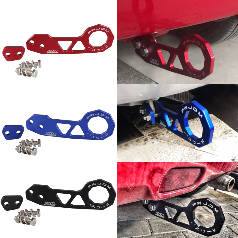 Image 3 - RASTP  Free Shipping JDM Style Racing Rear Tow Hook Aluminum Alloy Rear Tow Hook For Honda Civic RS TH004-in Towing Bars from Automobiles & Motorcycles