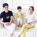 summer family clothing  2017 children short sleeve T-shirt Korean version beach Mom Dad Son tshirt family wear couples clothes