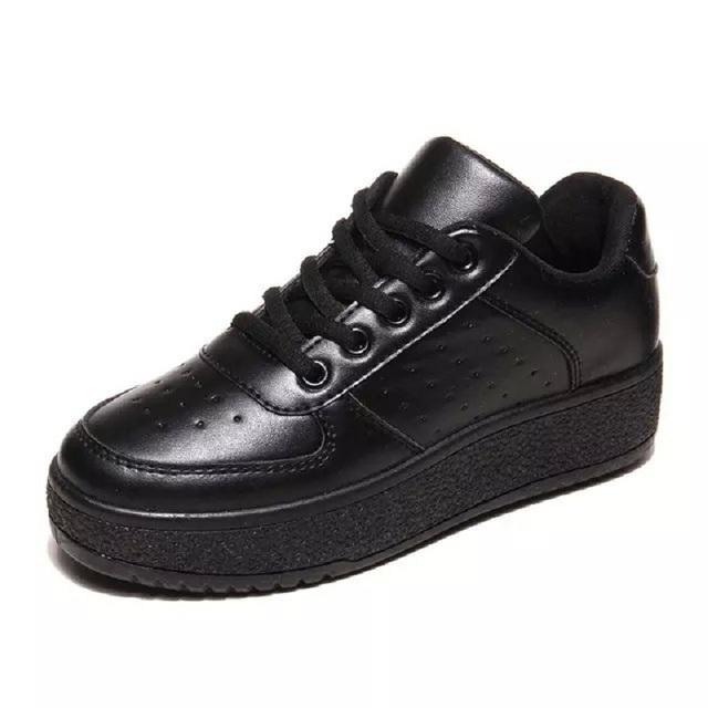 2016 Moda Sólidos White & Black & Pink Mulheres Sapatos Casuais c235 Spring & Outono Low Top Respirável Flats Para O Sexo Feminino 15