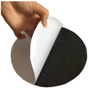 HE3D self-adhesive non slip mat Antiskid membrane rubber black diameter 20cm thickness 2mm for ciclop 3d scanner platform table