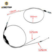 ZSDTRP Modified Extended Throttle Line Single/Double Automatic Carburetor Throttle Grip Cable Wire Accelerate Pump Carb