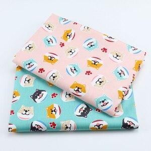 SMTA хлопчатобумажная ткань Лоскутные ткани на метраж ткань для вышивки для мебели узор собаки 50*160 см D20