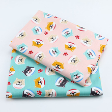 SMTA  Cotton Fabric The Cloth Patchwork Fabrics By The Meter Fabric For Needlework For Furniture Pattern Dog 50*160cm D20