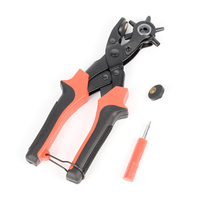 1pc Leather Belt Hole Punch Plier Eyelet Puncher Revolve Sewing Machine Bag Setter Tool For Watchband