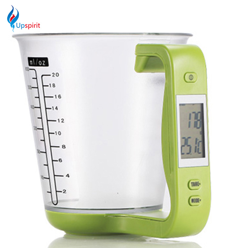 Upspiit <font><b>Digital</b></font> <font><b>Measuring</b></font> <font><b>Cup</b></font> Scale Cooking Tools All in One Electronic LCD Display Multifunctional Green Kitchen <font><b>Measuring</b></font> <font><b>Cup</b></font>