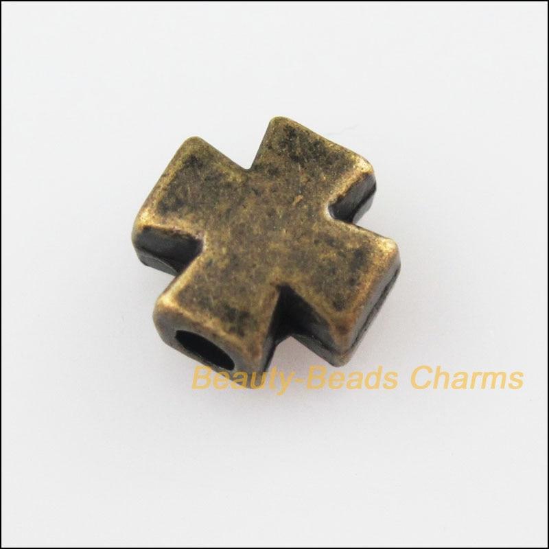 25 новых миниатюрных гладких шармы под старину, бронзовые бусины 8 мм