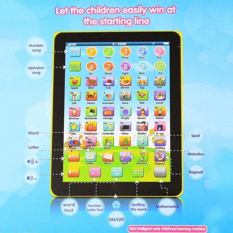Kid Boys Educational Tablet Learning Toys Pad Gift for Girls Baby Children