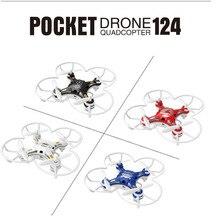 4 Couleurs FQ777-124 Poche Drone 2.4G 4CH 6 Axis Gyro RC Quadcopter Hélicoptère Télécommande Commutable Contrôleur RTF Mini Drone