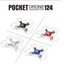 4 Colors FQ777-124 Pocket Drone 2.4G 4CH 6Axis Gyro RC Quadcopter Helicopter Remote Control Switchable Controller RTF Dron Toys