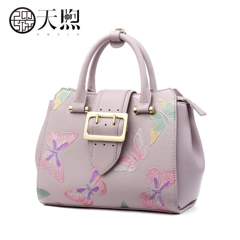Pmsix2018 new high-quality fashion luxury brand original butterfly handbag embossed handbag female counters authentic, female we new japanese original authentic vfr3140 5ezc