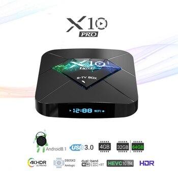 Android Streaming Box | 4 ГБ ОЗУ 64 Гб ПЗУ Смарт ТВ приставка Android 8,1 RK3328 четырехъядерный ТВ приставка 3D 4K HDR потоковый медиаплеер Wifi USB 3,0 4G 32G Bluetooth