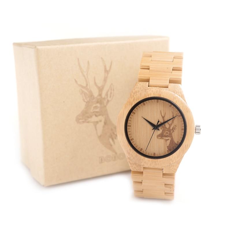 BOBO BIRD E04 New Famous Brand Womens Deer Wooden Bamboo Wrist Watch Dress Style Female Ladies Relojes De Marca Relogio Gift bamboo womens driven 77 casual wedge
