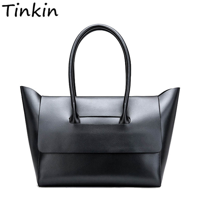 3941145f9644 Tinkin Women Vintage Daily Handbag for Shopping Female PU Classy Casual  Totes Lady Elegant All-match High Capacity Dames Tassen