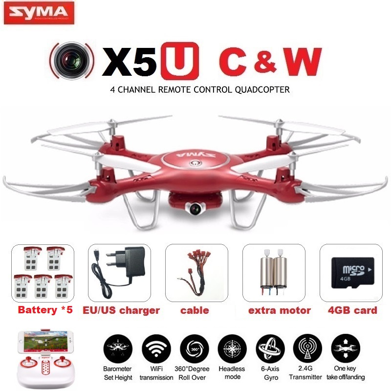 SYMA X5UW & X5UC FPV RC Drone With 720P WiFi 2MP HD Camera 2.4G 4CH 6Axis Quadcopter Helicopter Height Hold One Key Land Dron newest apple shape foldable wifi fpv rc drone rc130 2 4g apple quadcopter with 6axis gryo with 720p wifi hd camera rc drones