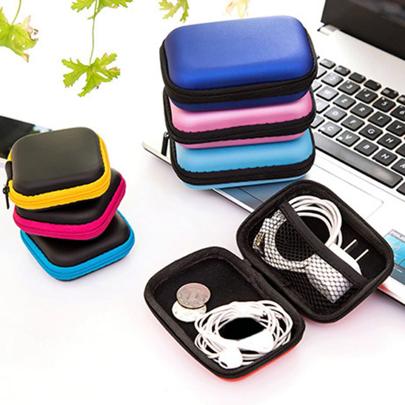 Hoomall Storage Bag Case For Earphone EVA Headphone Case Container Cable Earbuds Storage ...
