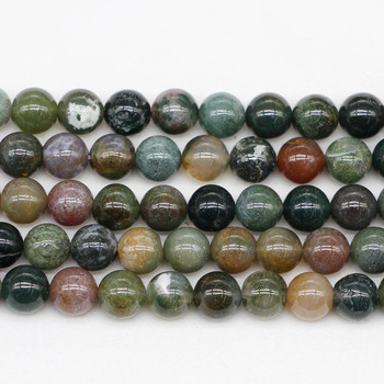 1strand/lot 4/6/8/10/12mm Natural Stone Indian Agates Bead Round Loose Spacer Beads For Jewelry Making Findings DIY Bracelet