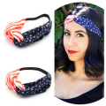 New 2016 women headband American Flag Turban Headband 4th of July USA Headbands Headwrap