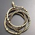 Graceangie 20 unids estilo antiguo bronce colgantes de los encantos de múltiples anillos del encanto del círculo 25*23*3mm 02515