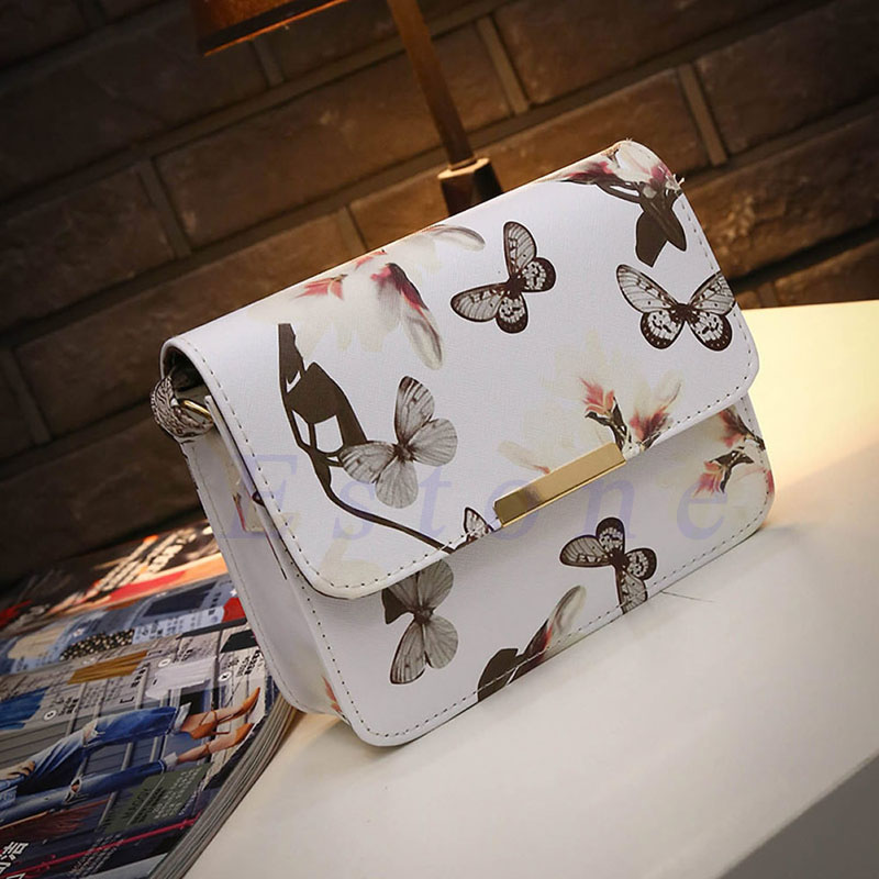 New Fashion Women Girl Student Fresh Patent Leather Messenger Satchel Crossbody Shoulder Bag Handbag Floral Cover Soft Specail kai yunon women girl shoulder bag faux leather satchel crossbody tote handbag aug 24
