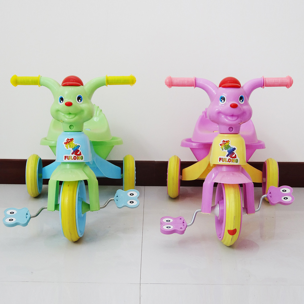 Cartoon Dog Children Tricycle Bicycle Kids Ride on Toys Car Three Wheels Bicycle Baby Walker Car Trike Plastic Riding Toy push along walking toy wooden animal patterns funny kids children baby walker toys duckling dog cat development eduacational toy