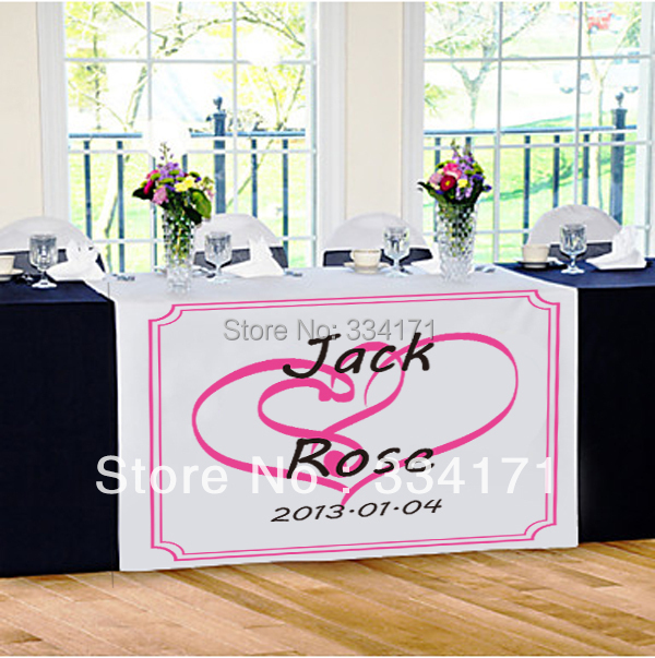 Personalized Wedding Runners Promotion Shop for Promotional