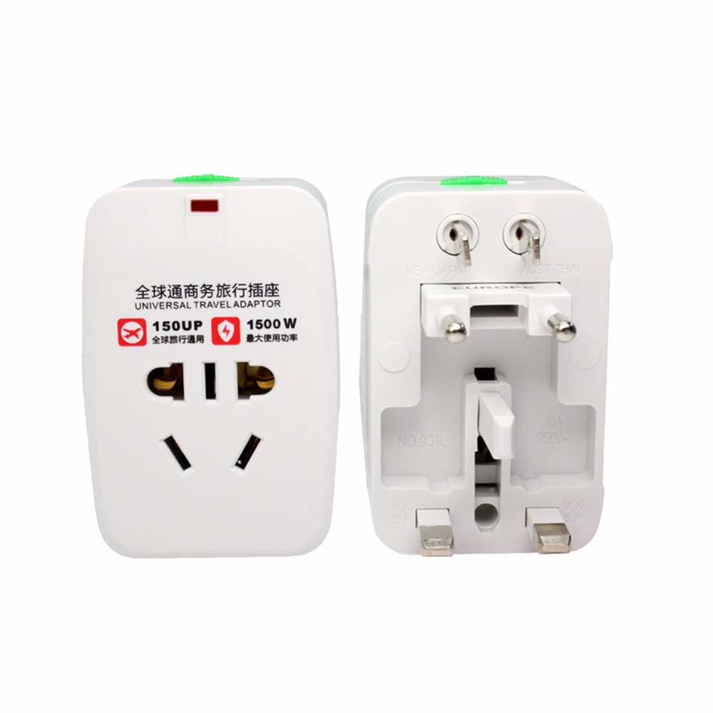 Universal All In One Travel Adapter International Power Charger AU US UK EU Converter Electrical Power Plug With Power Light