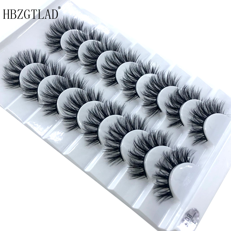 Image 4 - HBZGTLAD 5/8 /10 Pairs 3D Mink Hair False Eyelashes Natural/Thick Long Eye Lashes Wispy Makeup Beauty Extension Tools-in False Eyelashes from Beauty & Health