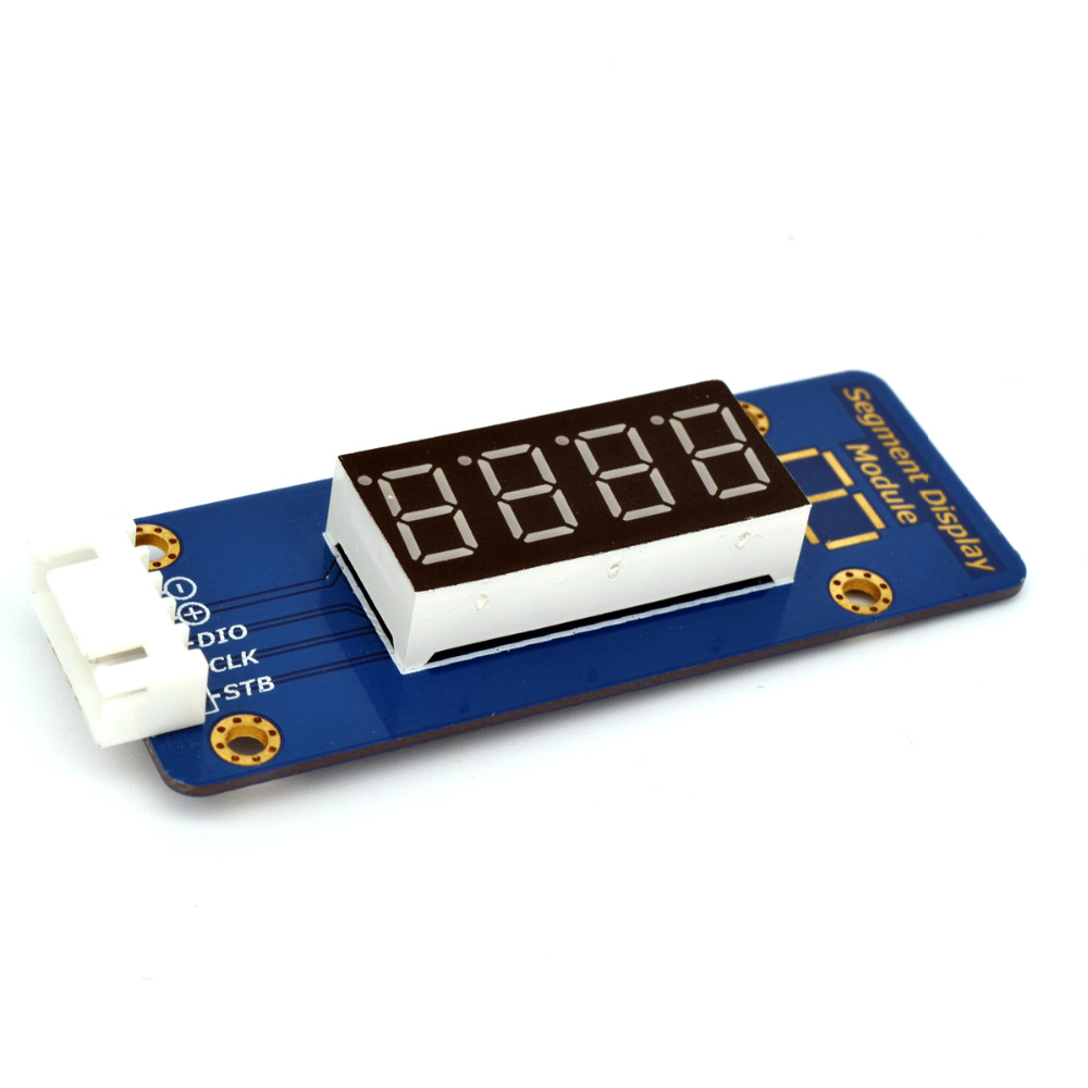 Adeept New TM1638 LED 4-Digit 7 Segment Digital LED Display Module for Pi Arduino Raspberry Pi ARM AVR DSP PIC Freeshipping adeept new 4pcs digital push button keypad module for arduino raspberry pi arm avr dsp pic freeshipping headphones diy diykit