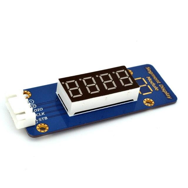 Adeept New TM1638 LED 4 Digit 7 Segment Digital LED Display Module for Pi Arduino Raspberry Pi ARM AVR DSP PIC Freeshipping