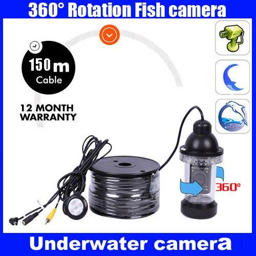 Рыболокатор подводная камера 18 светодиодный свет 150 м кабель вращается 360 градусов