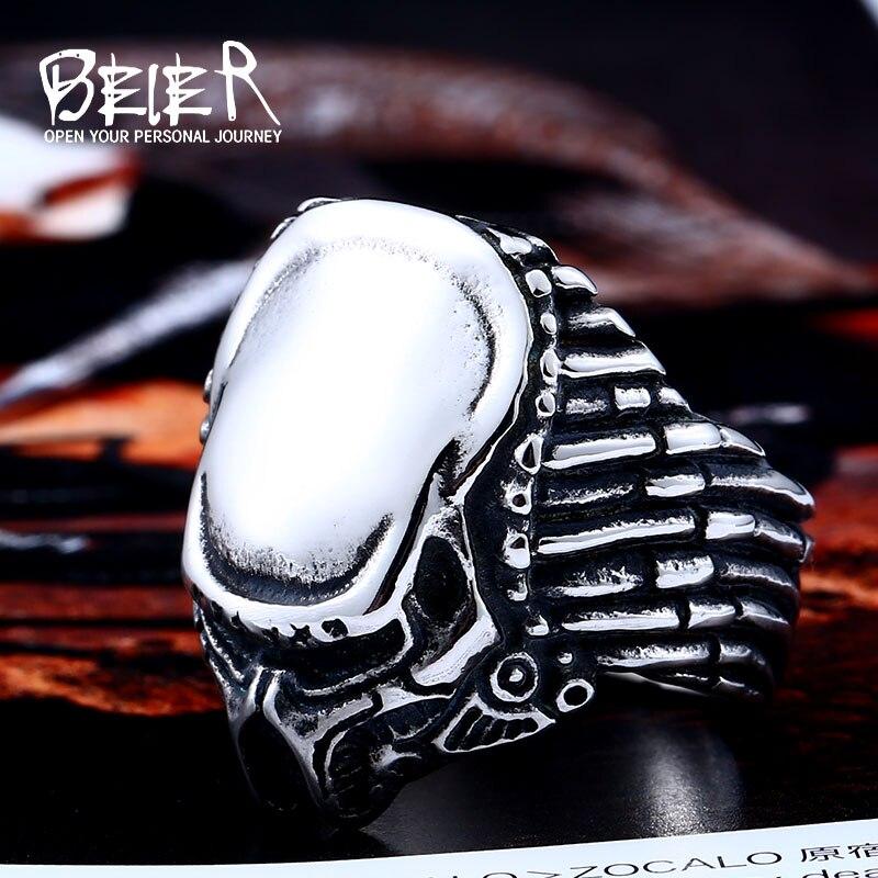 Байер новый магазин кольцо из нержавеющей стали 316L наивысшего качества человек стиль фильма Хищник модное ювелирное изделие LLBR8-217R