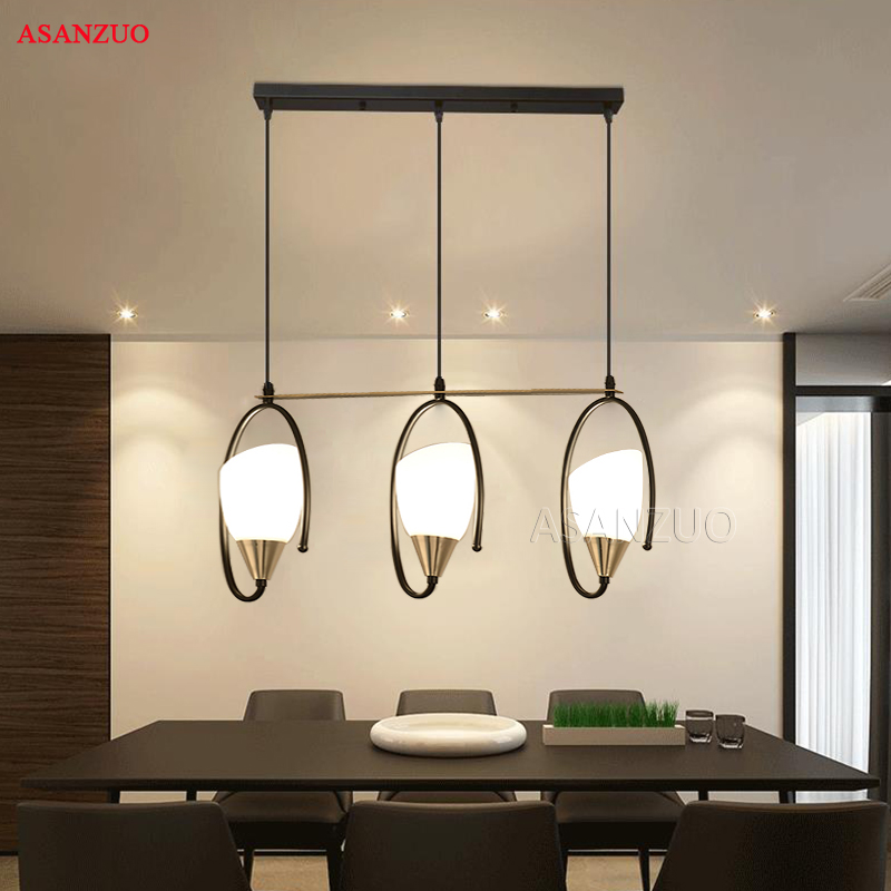 American Restaurant Pendant Light Creative Iron Personality Glass LED Light 3 Heads Bar Hanging LampAmerican Restaurant Pendant Light Creative Iron Personality Glass LED Light 3 Heads Bar Hanging Lamp