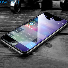 Anti Blue Light Tempered Glass For iPhone 8 7 6S 6 Plus 5 5S SE2.5D Explosion-proof Screen Protector For iPhone 6 6S 7 8 Plus us flag pattern decorative pvc back protector sticker for iphone 6 plus 5 5 red deep blue
