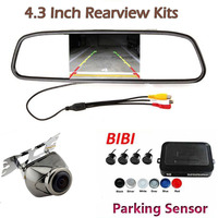 Dual Core CPU 4 Parking Sensors Car Auto Reverse Rear View Camera Backup Park Radar Alarm