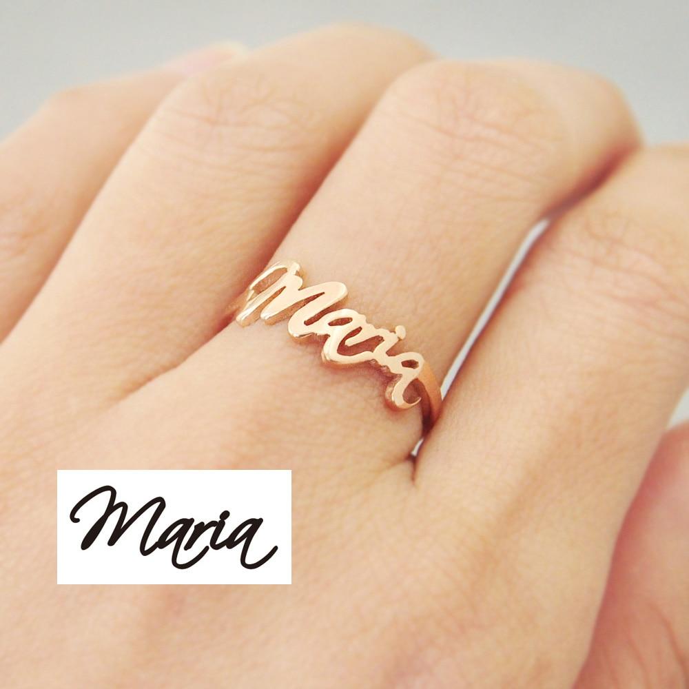 Custom handwriting ring