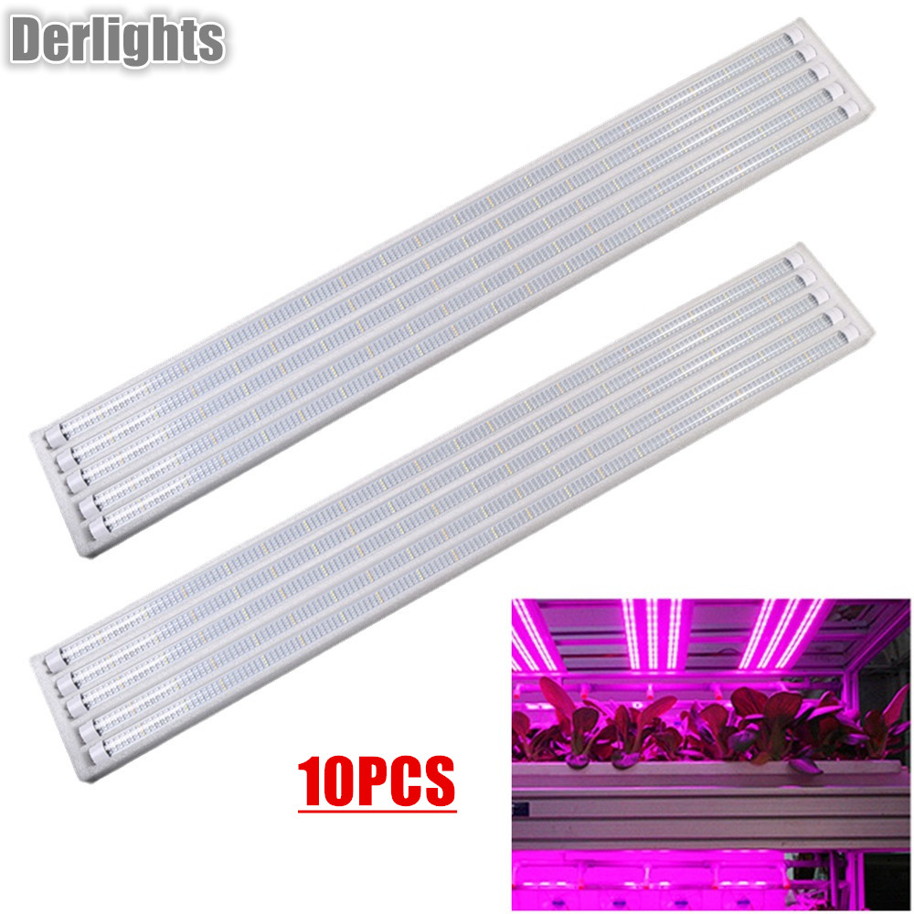 10PCS Led Grow Light Full Spectrum T8 Tube LED 120cm Indoor Plant Lamp Hydroponic Greenhouse LED Grow Tent Lamps for Plants t8 28w 90cm ac vegetable grow light tube 1pc retail for organic farming indoor full spectrum 380 780nm