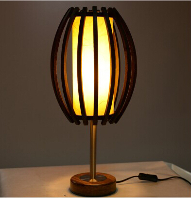New Chinese Style Table Lamp Modern Brief Bamboo Table Lamp Bedroom Bedside  Lamp American Lighting