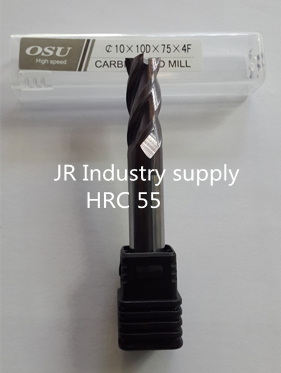 1 pcs HRC 55 10 10D 75 4F OSU carbide end mills