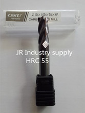 1 pcs HRC 55  10*10D*75*4F  OSU carbide end mills