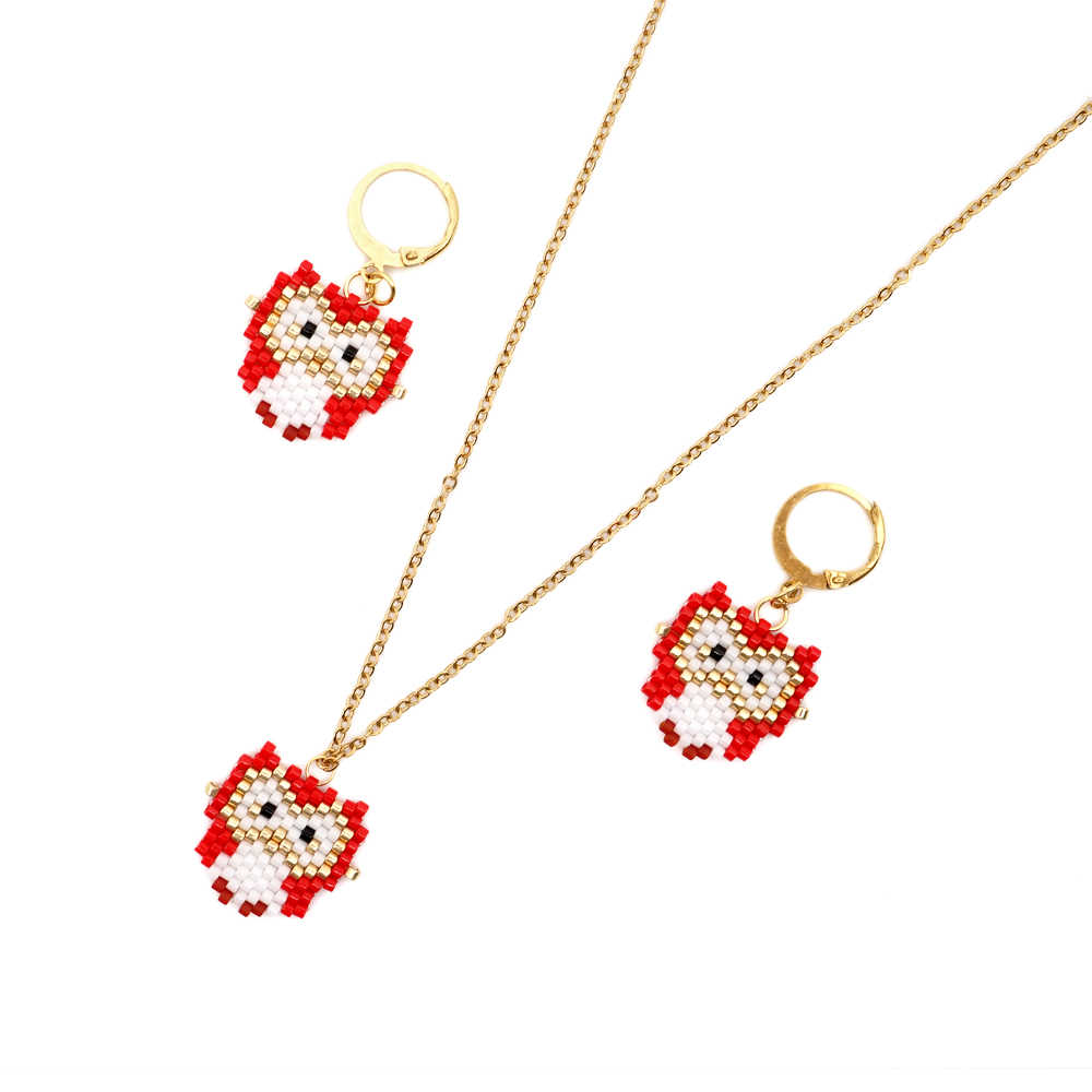 Go2boho MIYUKI Owl Necklace For Women Satainless Steel Gold Chain Necklaces Femme Fashion Jewelry 2019 New Handmade Gift